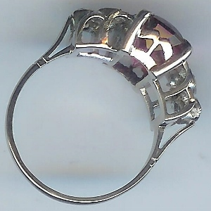 Simply Stunning Pink Tourmaline & Diamond Ring
