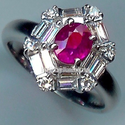 Extremely Striking Ruby & Diamond Cluster Ring