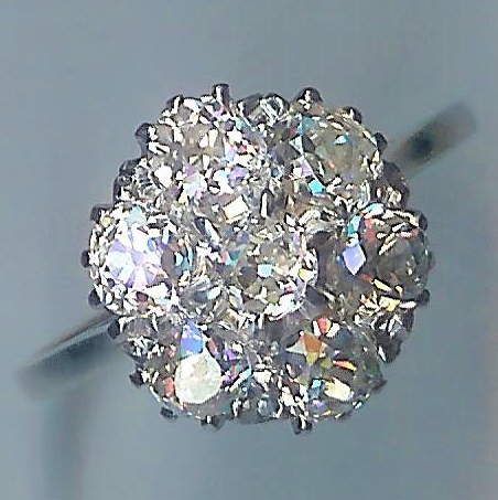 Absolutely Stunning 7-Stone Diamond Cluster Ring