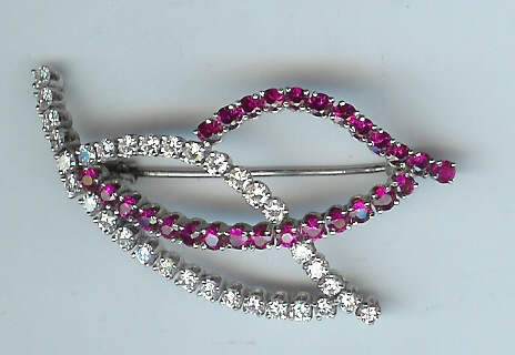 Fabulous Ruby and Diamond Brooch