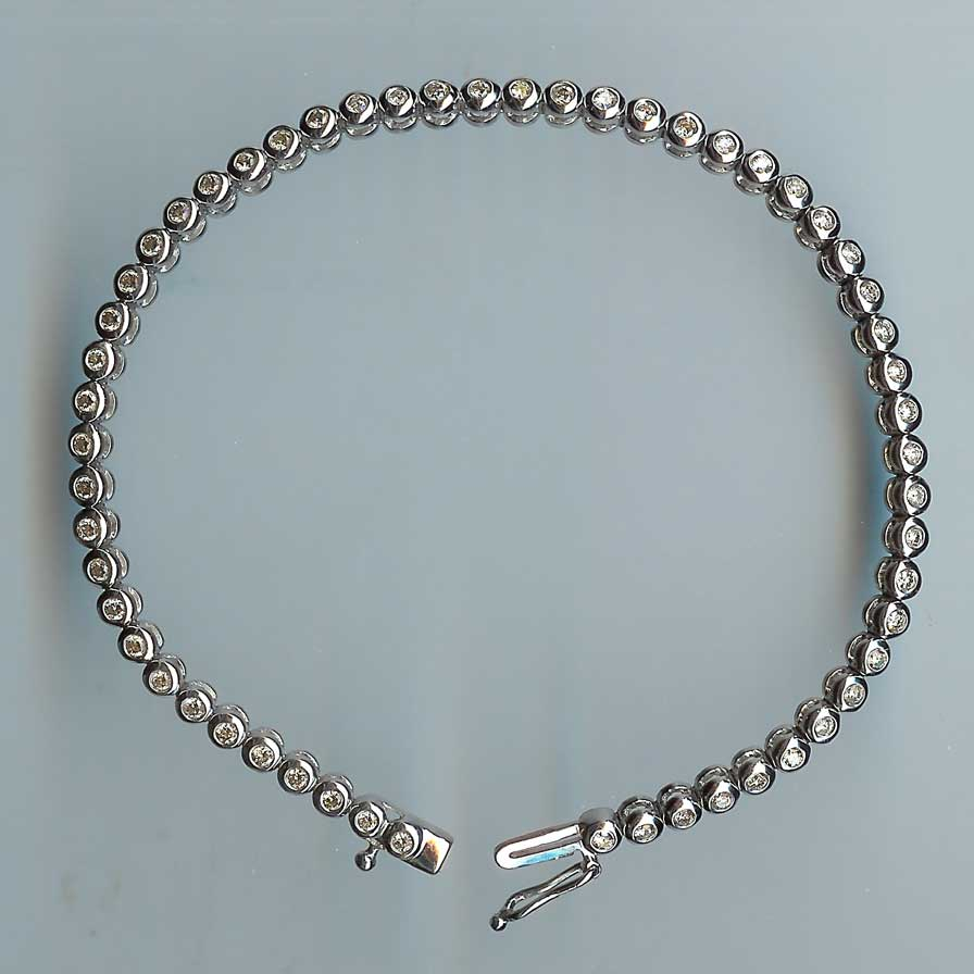 Delectable Diamond Line Bracelet