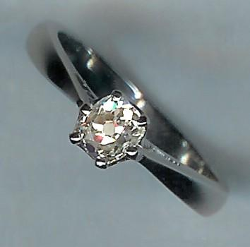Wonderful Rose-Cut Diamond Solitaire, Approx 0.75cts