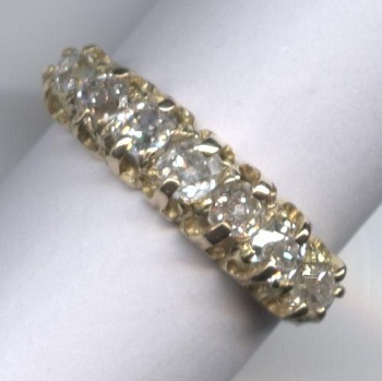 Wonderful 1920's 7-Stone Rose-Cut Diamond Ring