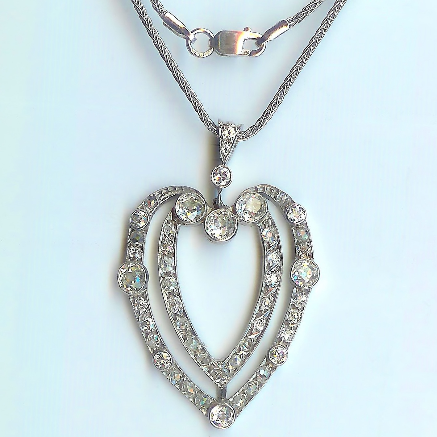 pendant bling xny white sterling vintage jewelry antique silver az teardrop diamond necklace opal