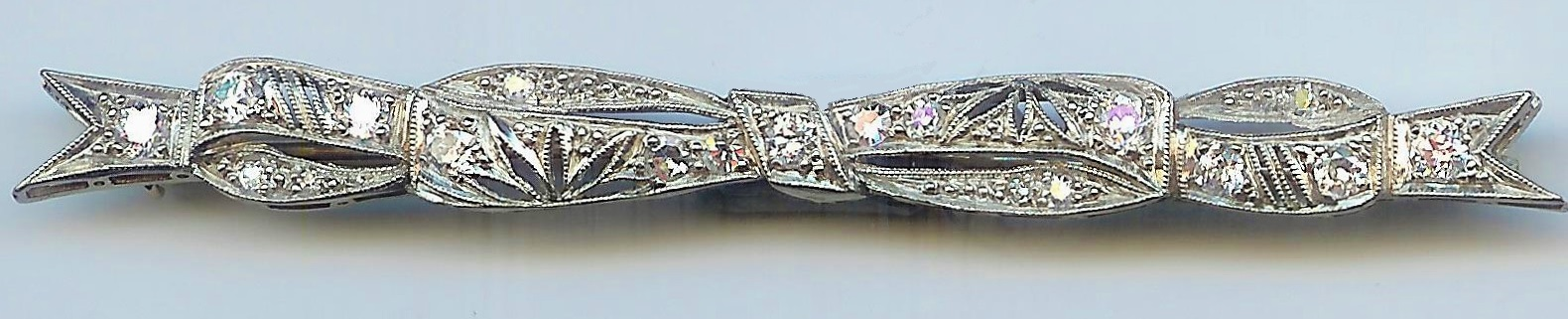Romantic Vintage Diamond Bow Brooch