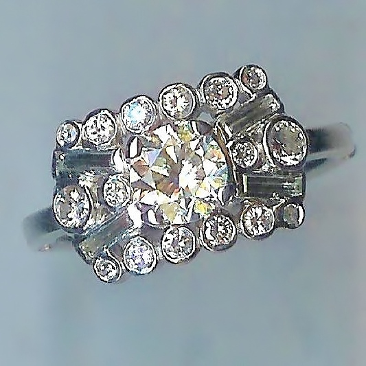 Radiant Diamond Cluster Ring
