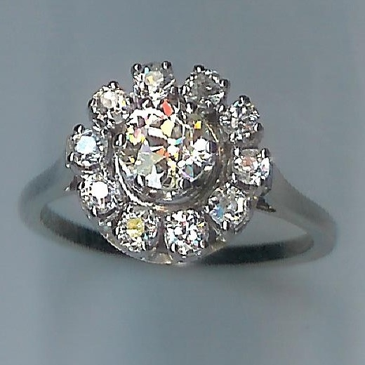 Gem of an Antique Diamond Cluster Ring