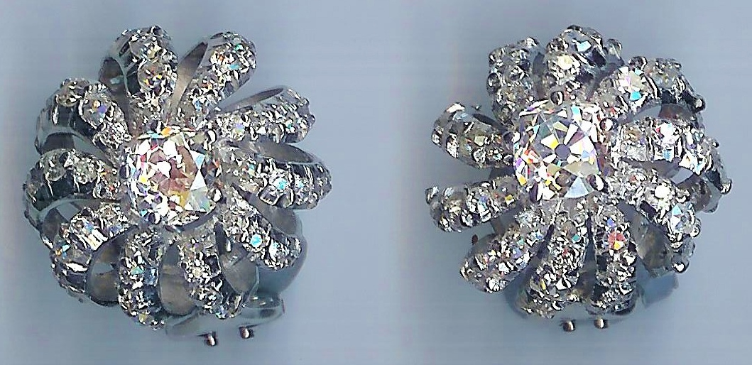 Absolutely Gorgeous Vintage Diamond Earrings