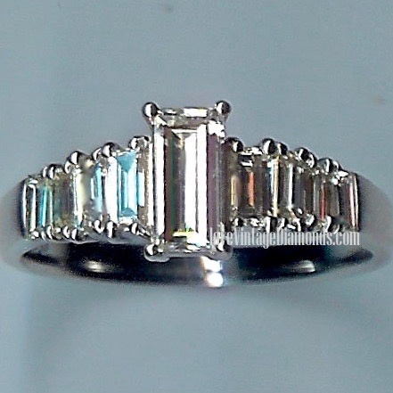 Absolutely Beautiful 9-stone Diamond-baguette Ring