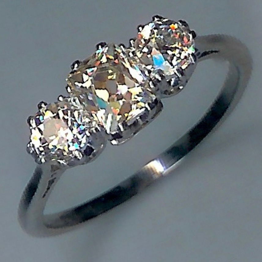 Fantastic 1920's 3-Stone Diamond Ring