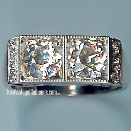 A Fantastic Art Deco Old-Cut Diamond Ring, tot 2.00cts