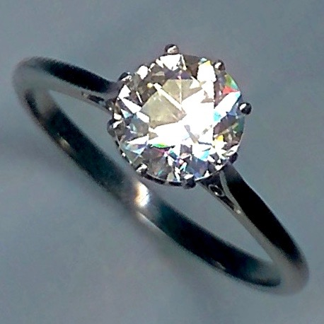 Gorgeous & Classic Diamond Solitaire, 1.80cts, Ring