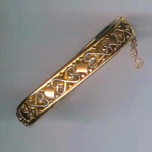 Edwardian Ornate Gold Bangle