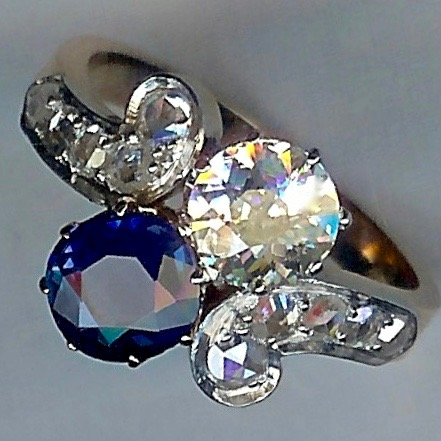 Simply Wonderful Sapphire & Diamond Twist Ring