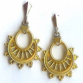 Victorian 15ct Gold Unusual Drop Earrings