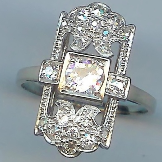 Provocative Diamond Cluster Ring, c.1910