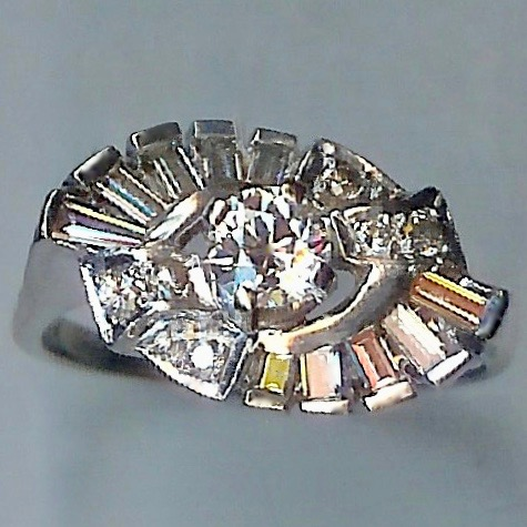 Truly Beautiful Vintage Diamond Cluster Ring