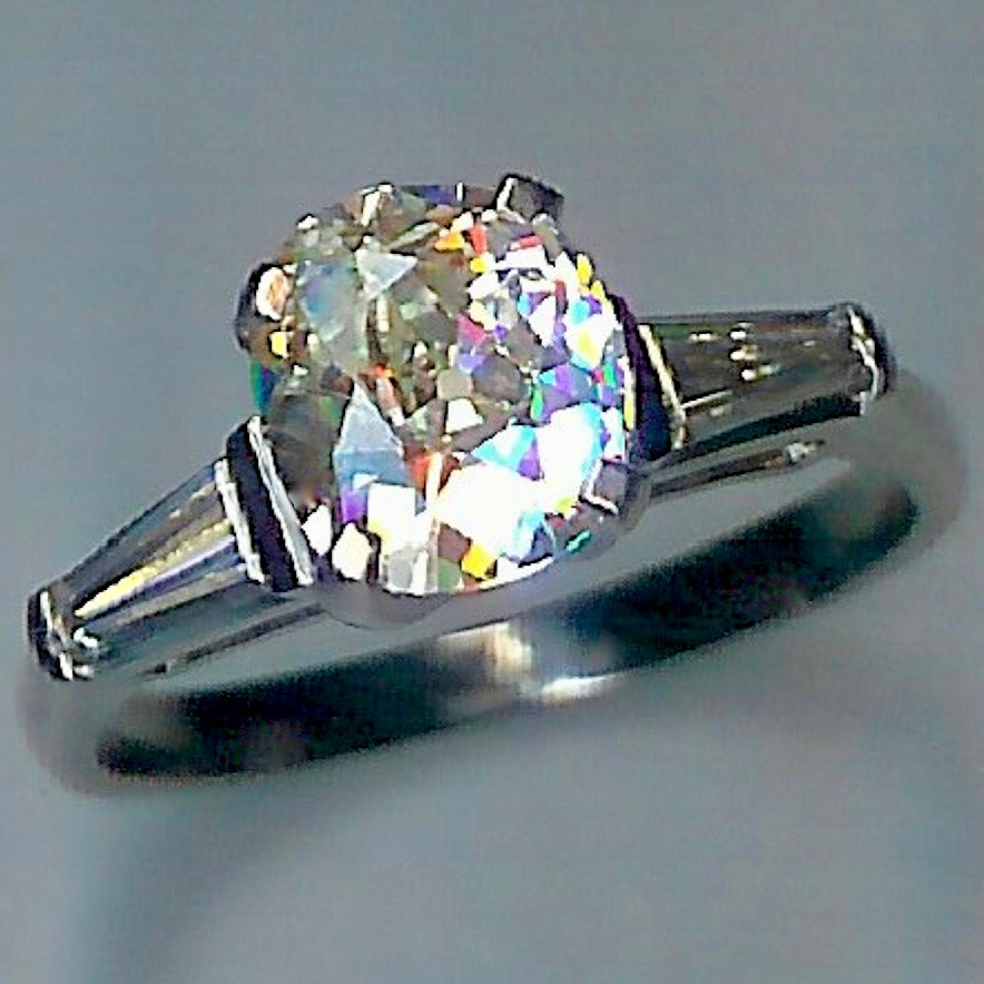 Stunning Vintage 1.71ct Diamond Ring