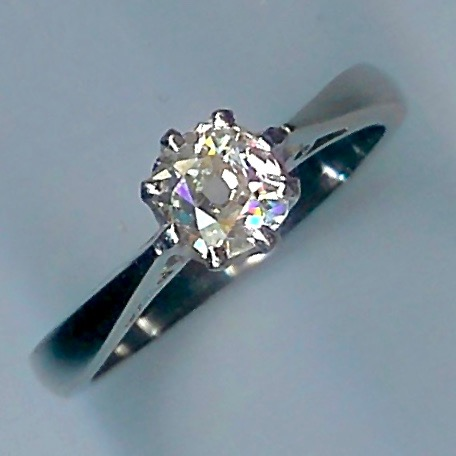 Most Beautiful Rose-Cut Diamond Solitaire Ring Approx 0.75cts