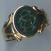 Old Gent's Bloodstone Seal Ring - Click Image to Close